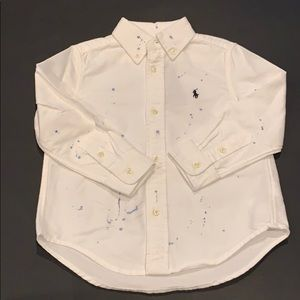 RALPH LAUREN Boys White Shirt